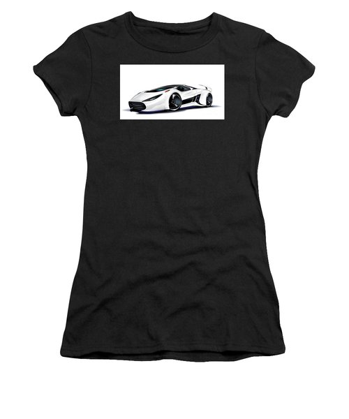 Women's T-Shirt (Athletic Fit) featuring the drawing Automobili Lamborghini Concept by Brian Gibbs