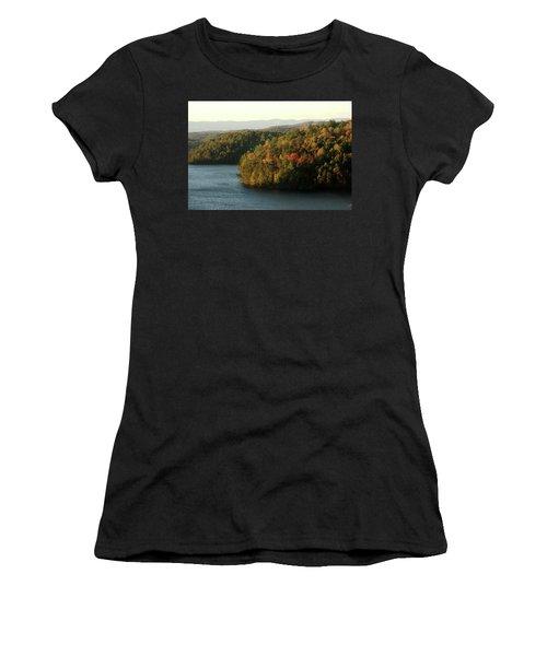 Autumn At Philpott Lake, Virginia Women's T-Shirt (Junior Cut) by Emanuel Tanjala