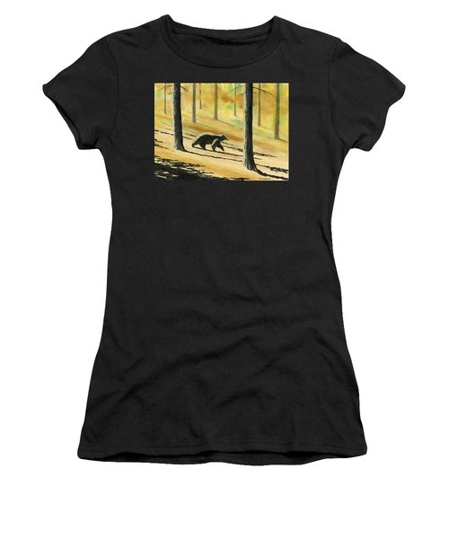 Autumn Bear Women's T-Shirt (Athletic Fit)
