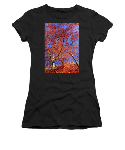 Autumn Blaze Women's T-Shirt (Junior Cut) by Karen Wiles