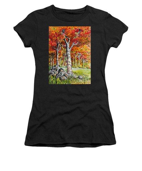 Autumn Bloom Women's T-Shirt (Athletic Fit)