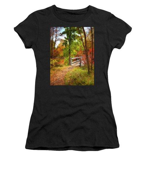 Autumn Bridge Women's T-Shirt (Athletic Fit)