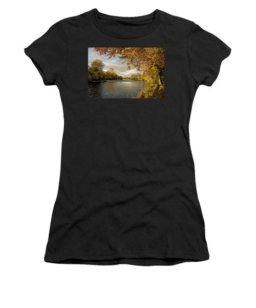Autumn By The River Ness Women's T-Shirt (Athletic Fit)