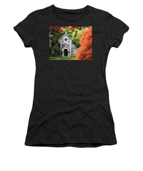 Autumn Chapel Women's T-Shirt (Junior Cut) by Betty Denise