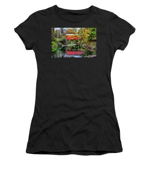 Women's T-Shirt featuring the photograph Autumn Colors Over Slaughterhouse. by Jeff Folger