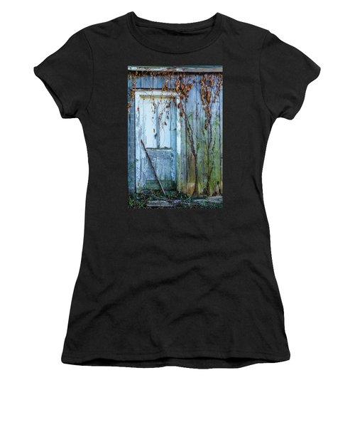 Autumn Door Women's T-Shirt (Athletic Fit)