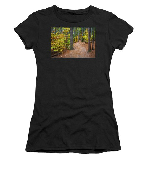 Autumn Fall Foliage In New England Women's T-Shirt