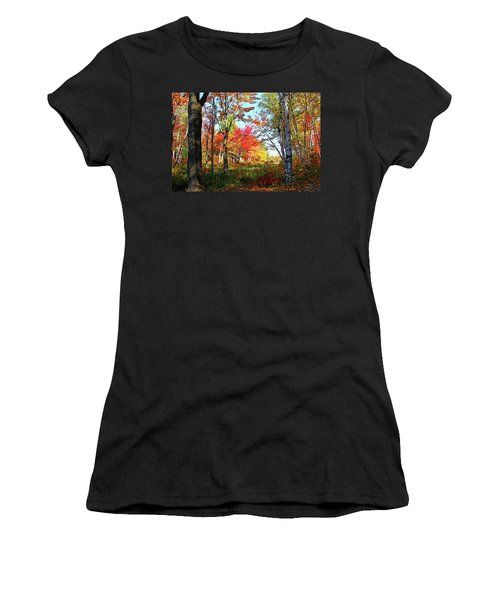 Autumn Forest Women's T-Shirt (Junior Cut) by Debbie Oppermann