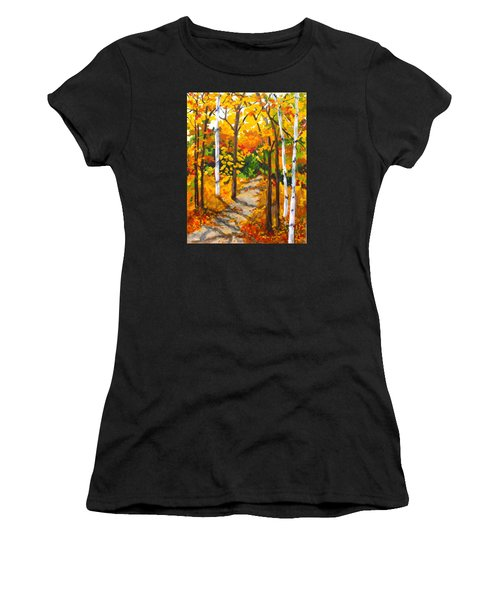 Autumn Forest Trail Women's T-Shirt (Athletic Fit)