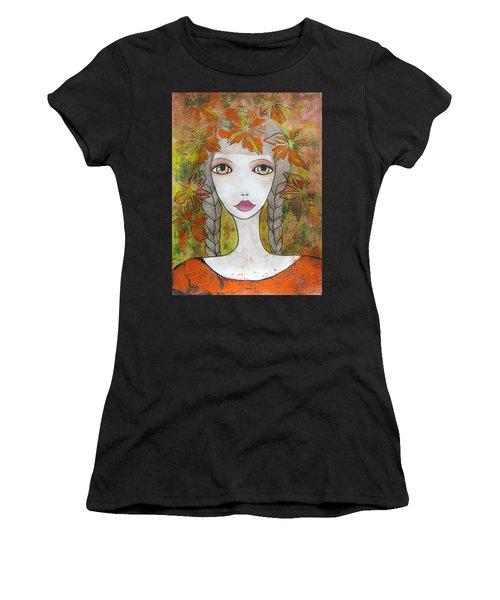 Autumn Girl  Women's T-Shirt (Athletic Fit)
