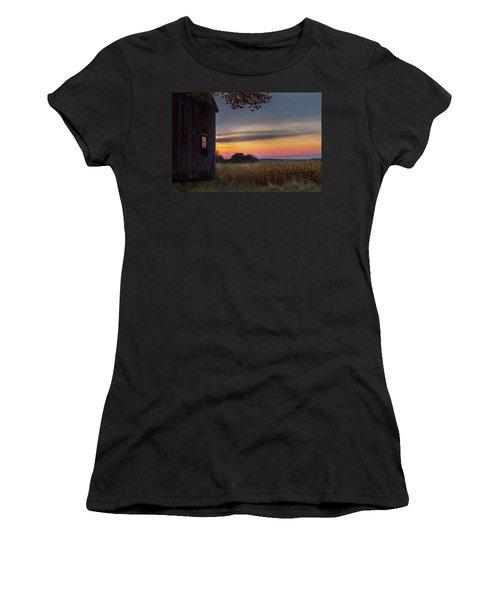 Women's T-Shirt (Junior Cut) featuring the photograph Autumn Glow by Bill Wakeley