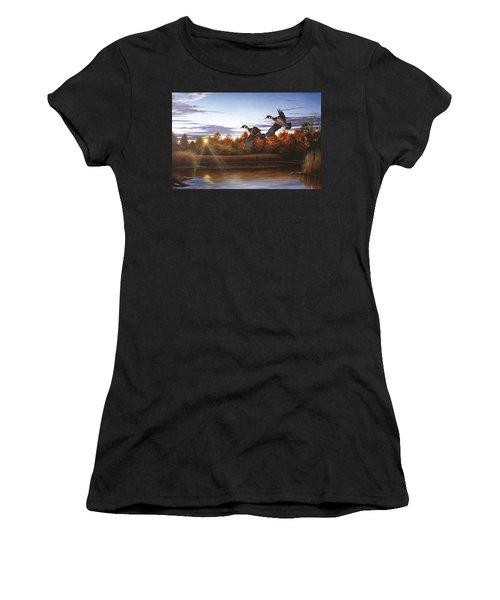 Autumn Home - Wood Ducks Women's T-Shirt