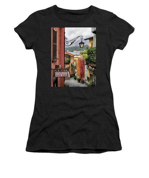 Autumn In Bellagio Women's T-Shirt (Junior Cut) by Jennie Breeze