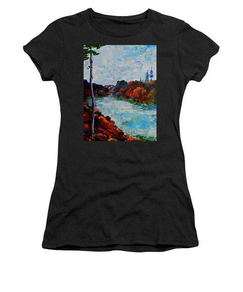 Autumn Landscape Women's T-Shirt (Athletic Fit)