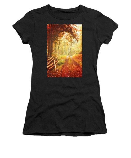 Autumn Lights Women's T-Shirt (Athletic Fit)