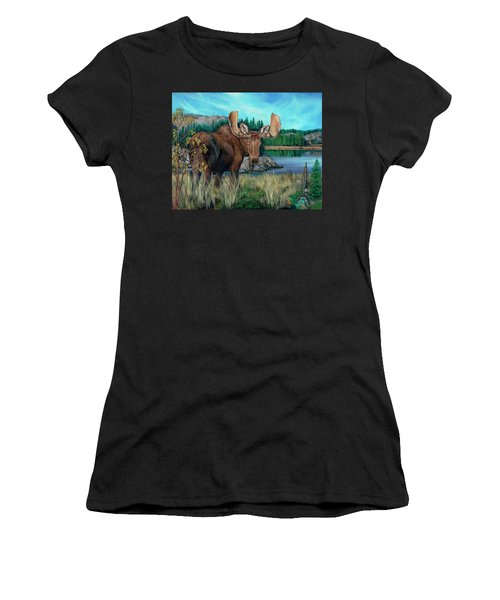 Autumn Moose Women's T-Shirt