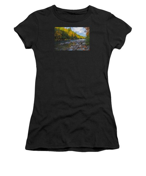 Autumn Morning Light On The Snoqualmie Women's T-Shirt (Athletic Fit)