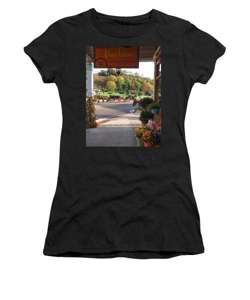 Autumn Morning On Mackinac Island Women's T-Shirt