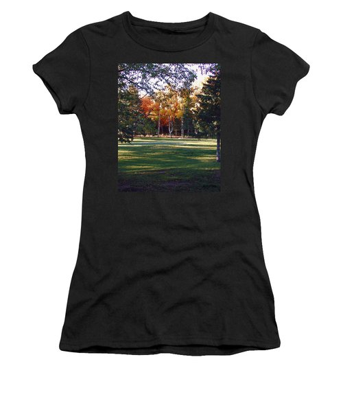 Autumn Park Women's T-Shirt (Athletic Fit)