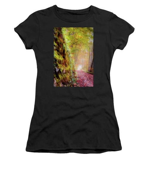 Autumn Path Women's T-Shirt (Athletic Fit)