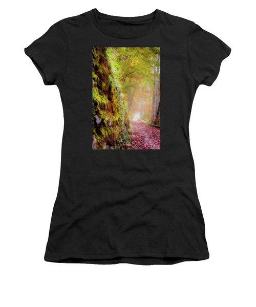 Autumn Path Women's T-Shirt (Athletic Fit)
