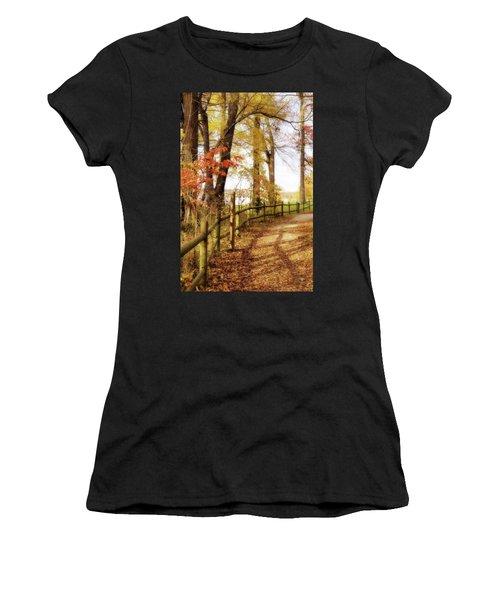 Autumn Pathway Women's T-Shirt (Athletic Fit)