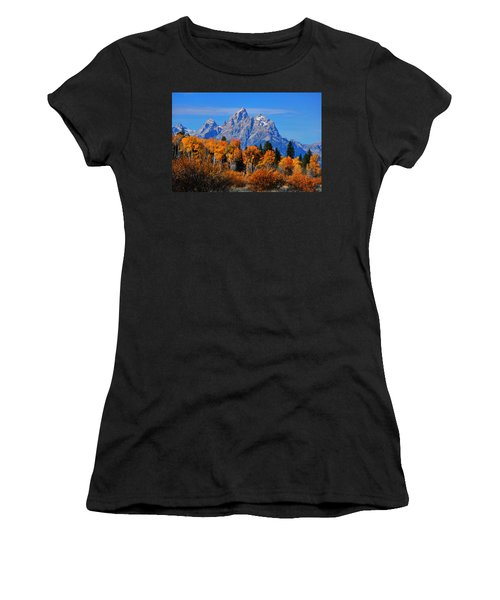 Autumn Peak Beneath The Peaks Women's T-Shirt (Athletic Fit)