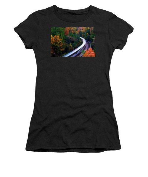 Autumn Rails Women's T-Shirt (Athletic Fit)