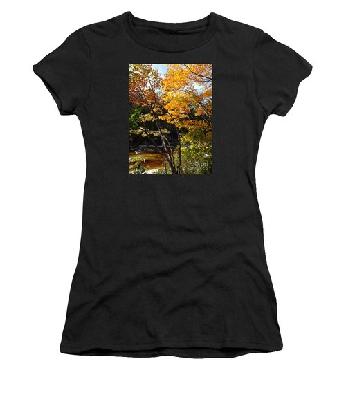 Autumn River Women's T-Shirt (Athletic Fit)