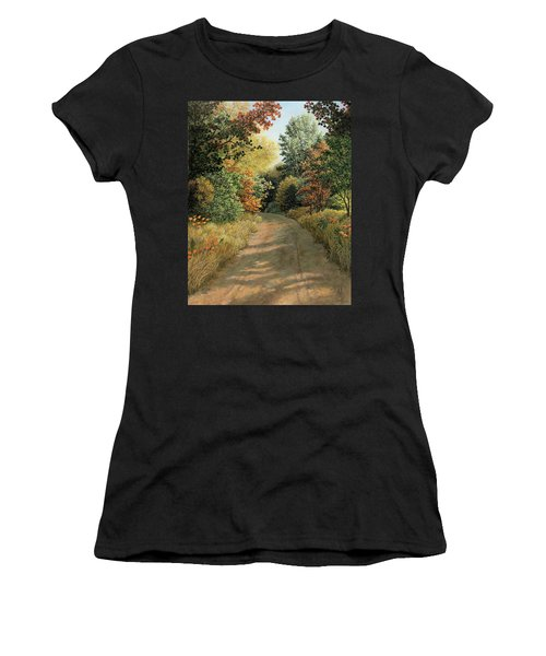 Autumn Road Women's T-Shirt (Athletic Fit)