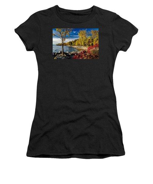 Autumn Scene Lake Ontario Canada Women's T-Shirt