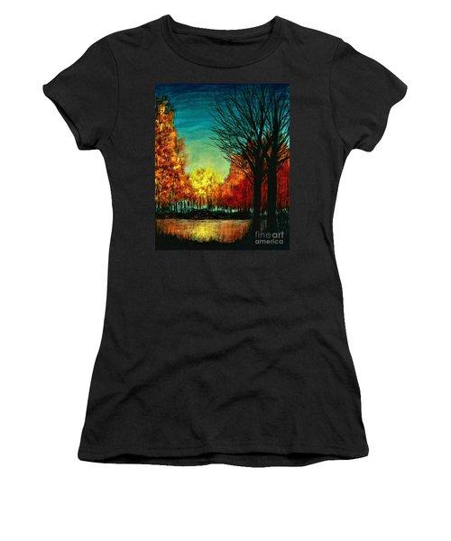 Autumn Silhouette  Women's T-Shirt (Athletic Fit)