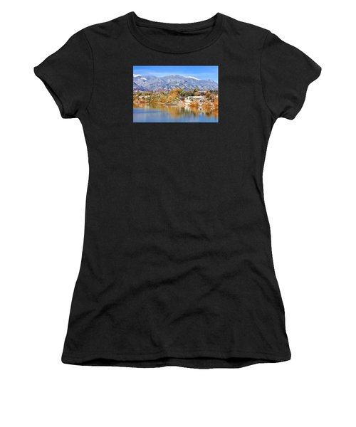 Autumn Snow At The Lake Women's T-Shirt