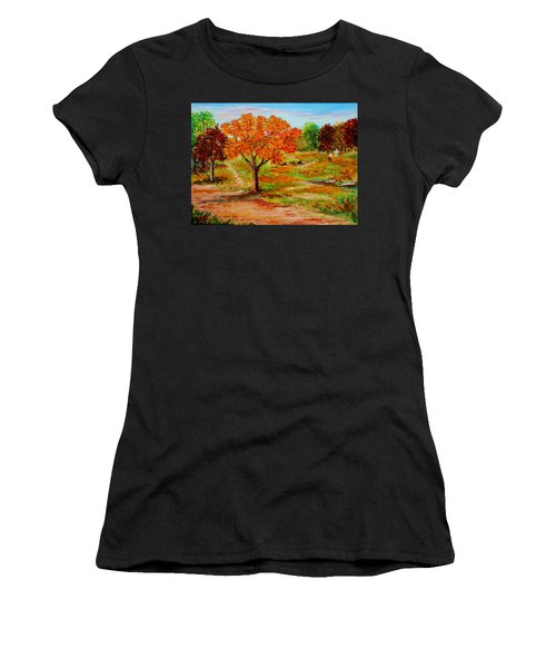 Autumn Trees Women's T-Shirt (Athletic Fit)