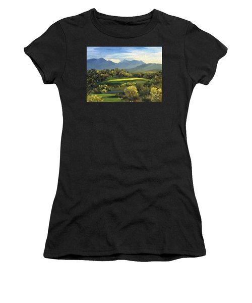 Women's T-Shirt featuring the painting Autumn Trees by Ivana Westin