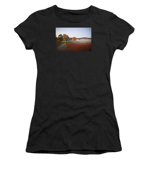 Women's T-Shirt featuring the photograph Autumn Walk In Valley Forge by Bill Cannon