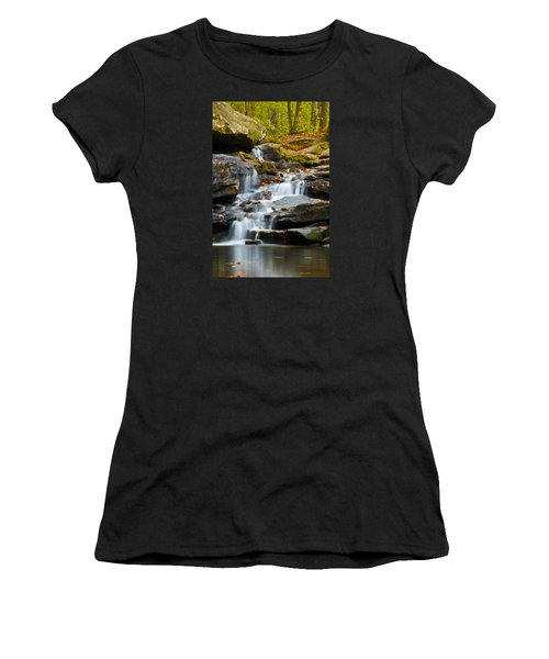 Autumn Waterfall Women's T-Shirt (Junior Cut) by Shelby  Young