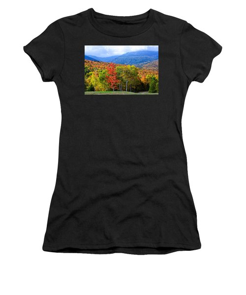 Women's T-Shirt featuring the photograph Autumn White Mountains Nh by Michael Hubley