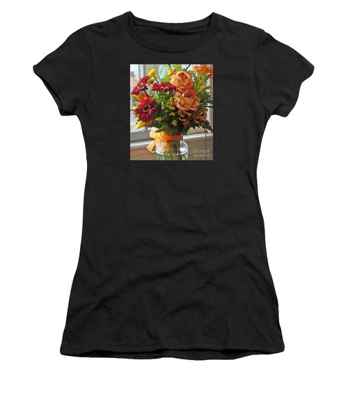 Women's T-Shirt (Junior Cut) featuring the photograph Autumn Window by Betsy Zimmerli