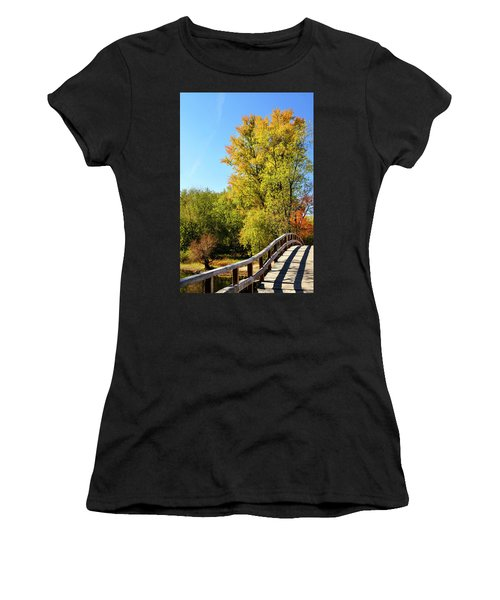 Autumnal North Bridge Women's T-Shirt (Athletic Fit)