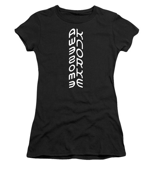 Awesome Knorke Cornered Women's T-Shirt (Athletic Fit)