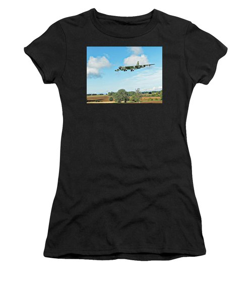 Women's T-Shirt featuring the digital art B52 Stratofortress -2 by Paul Gulliver