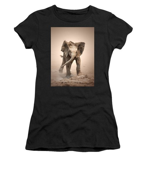 Baby Elephant Mock Charging Women's T-Shirt