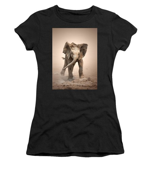 Baby Elephant Mock Charging Women's T-Shirt