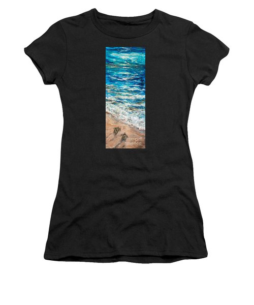 Baby Sea Turtles I Women's T-Shirt (Athletic Fit)