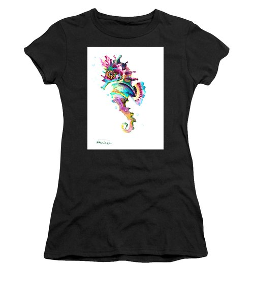 Baby Seahorse Women's T-Shirt (Athletic Fit)