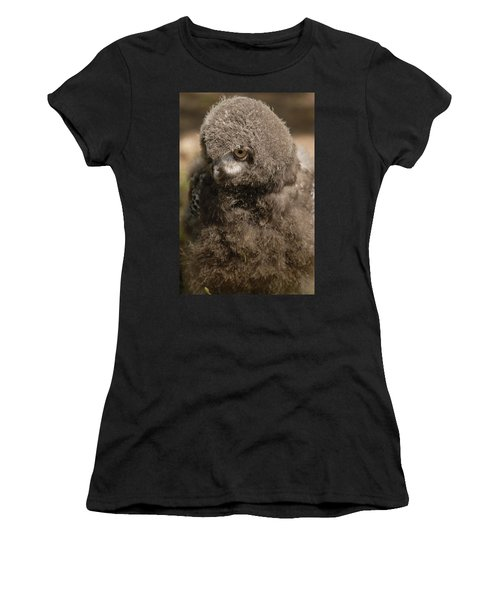 Baby Snowy Owl Women's T-Shirt (Athletic Fit)