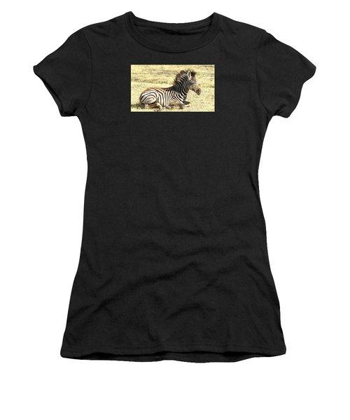 Baby Zebra Women's T-Shirt (Athletic Fit)