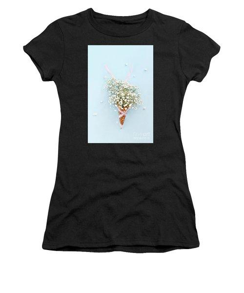 Baby's Breath Ice Cream Cone Women's T-Shirt