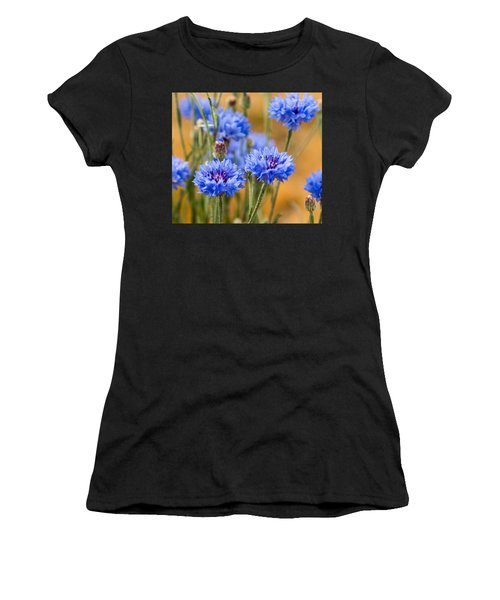 Bachelor Buttons In Blue Women's T-Shirt